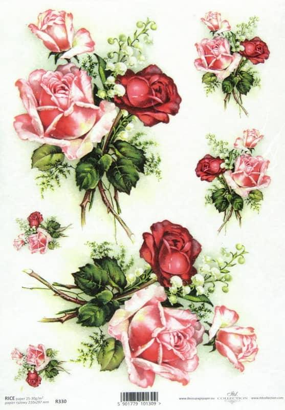 Rice Paper - Rose Bouquet Decoupage Beautiful