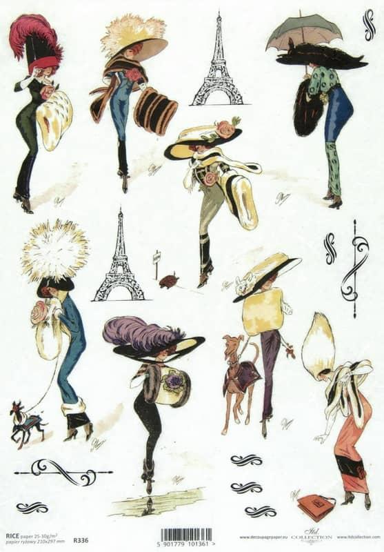Rice Paper - Vintage Fashion Lady