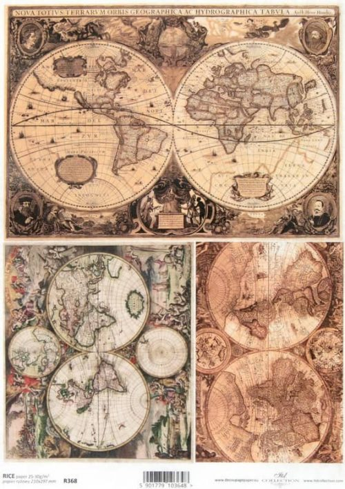 Rice Paper - Vintage Old Atlas 2