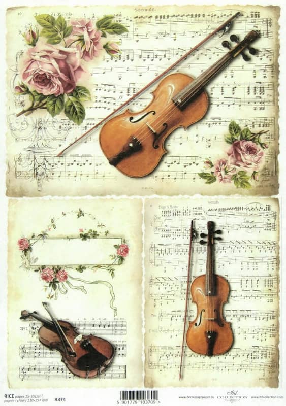 Rice Paper - Violin and Note
