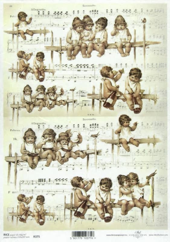 Rice Paper - Vintage Angels Decoupage