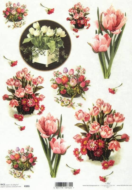 Rice Paper - Antique Tulip