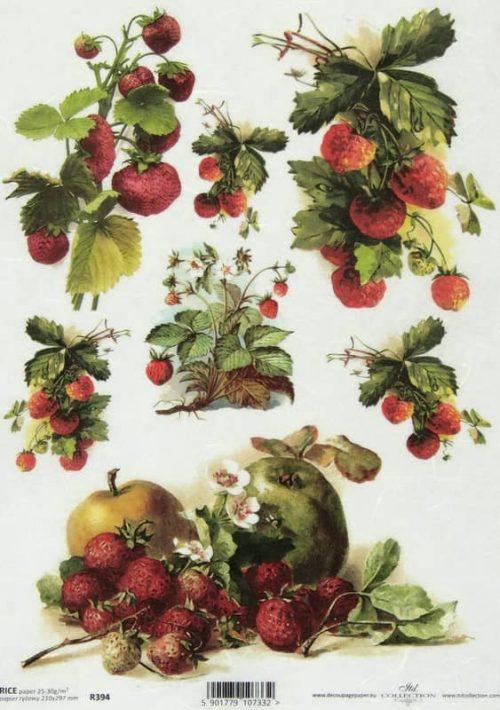 Rice Paper - Vintage Strawberry