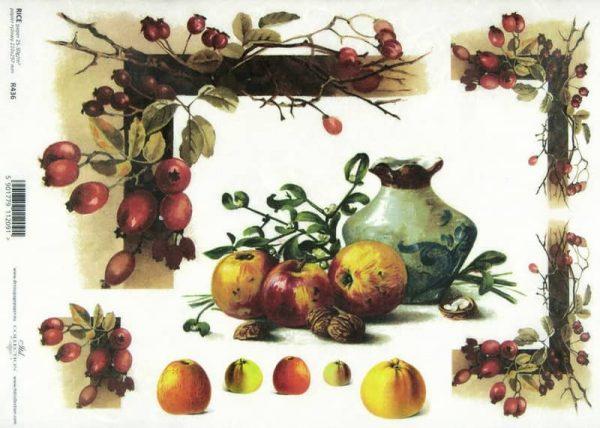 Rice Paper - Autumn Fruits Mix