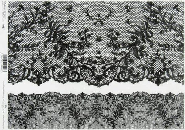 Rice Paper - Vintage Black Lace