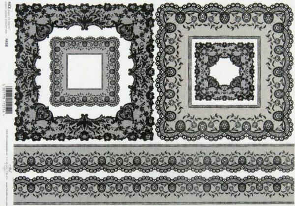 Rice Paper - Vintage Black Lace Frame