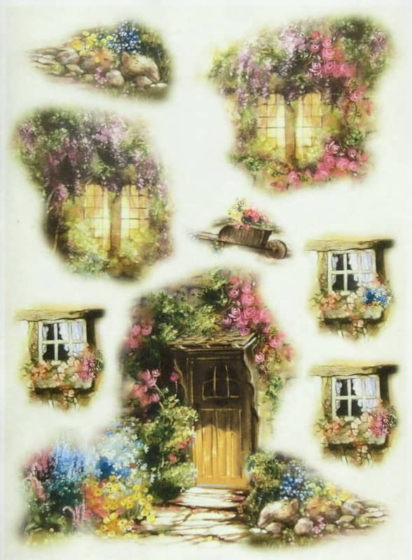 Rice Paper - Cottage Decoupage Paper,ing