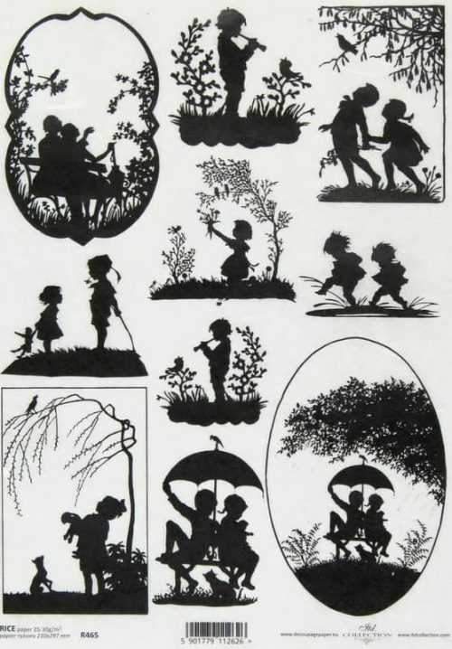 Rice Paper - Silhouette Children