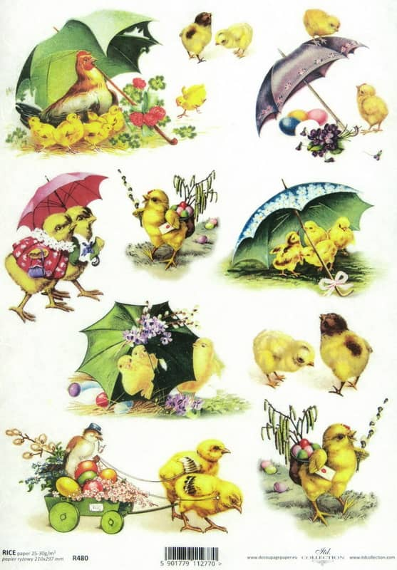 Rice Paper - Happy Easter Chicks