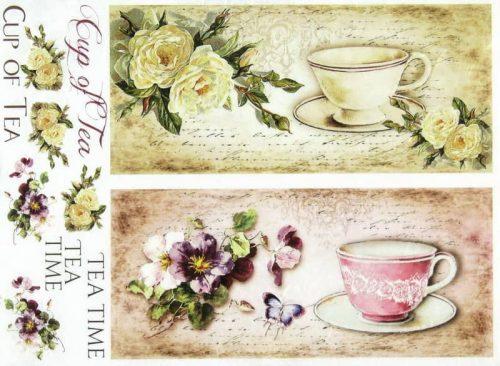 Rice Paper - Vintage Cup of Tea