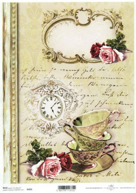 Rice Paper - Vintage It's Tea Time