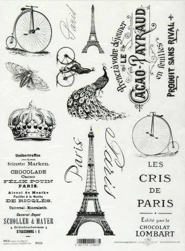 Rice Paper - Vintage Labels Paris