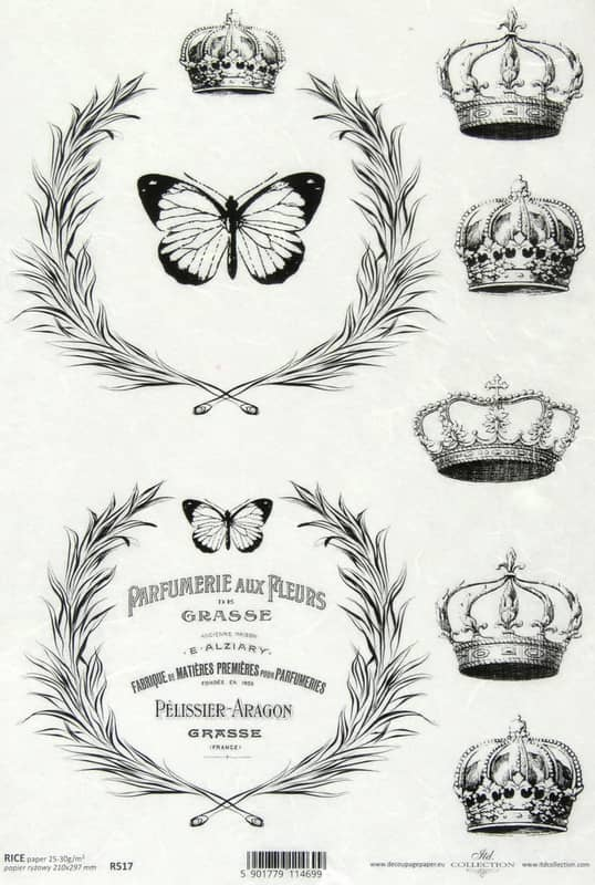 Rice Paper - Vintage Labels Crowns
