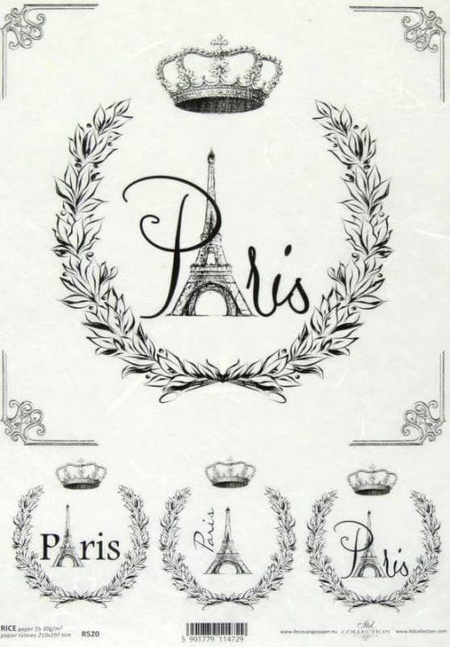Rice Paper - Vintage Labels Paris 2