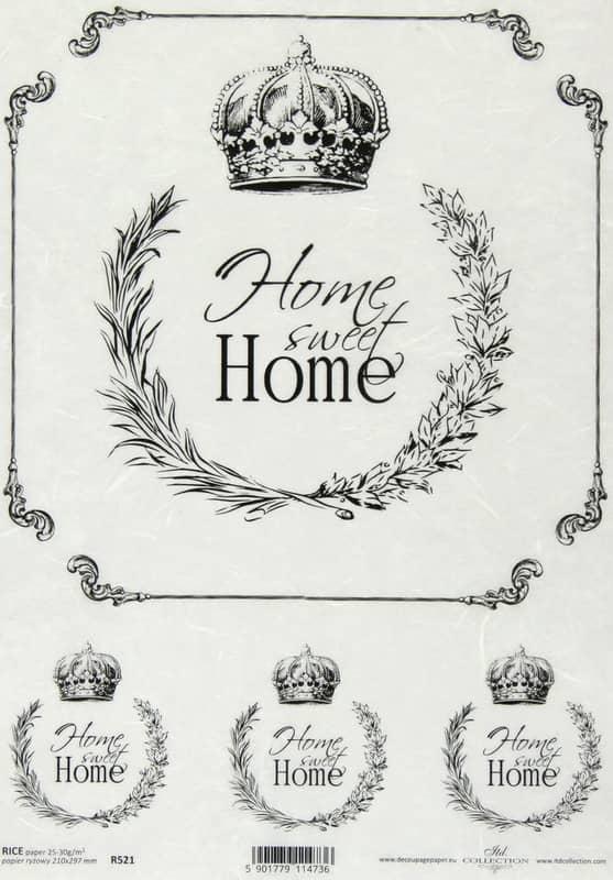 Rice Paper - Vintage Labels Sweet Home