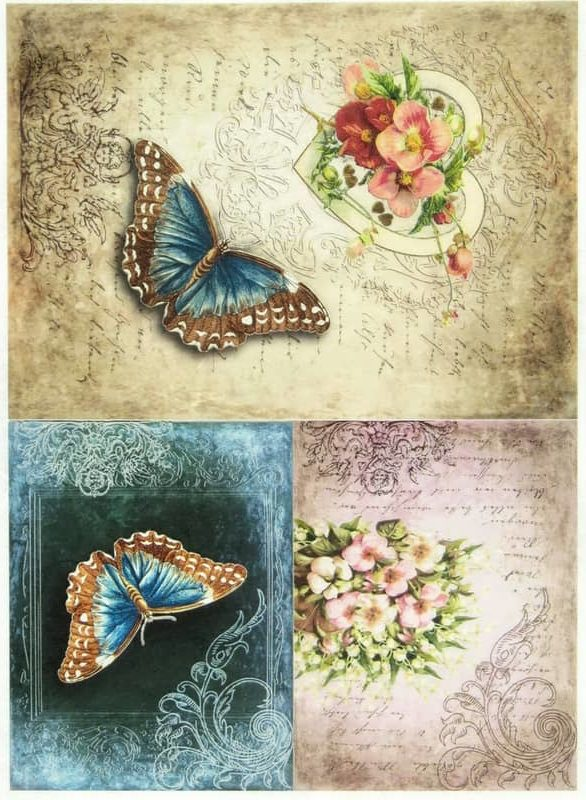 Rice Paper - Vintage Butterfly
