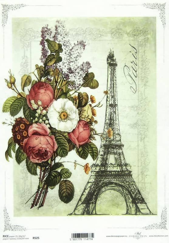 Rice Paper - Eiffel Tower Drawing