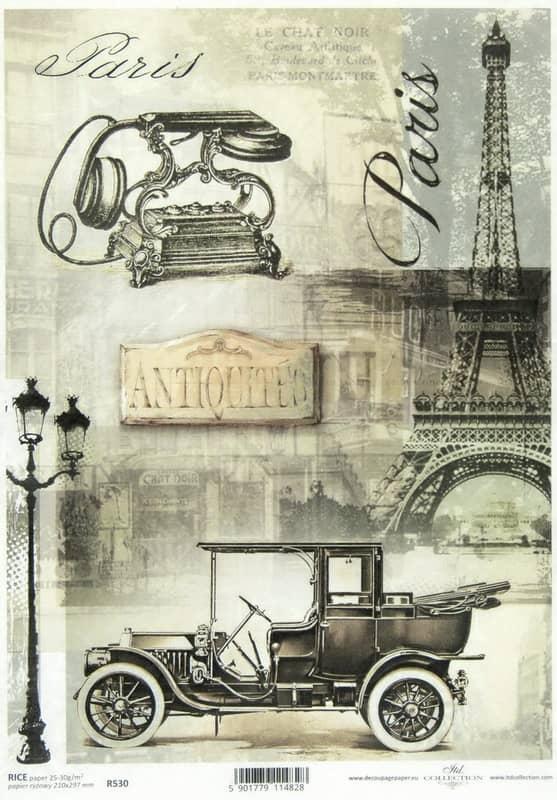 Rice Paper - Black Paris - Vintage A/4