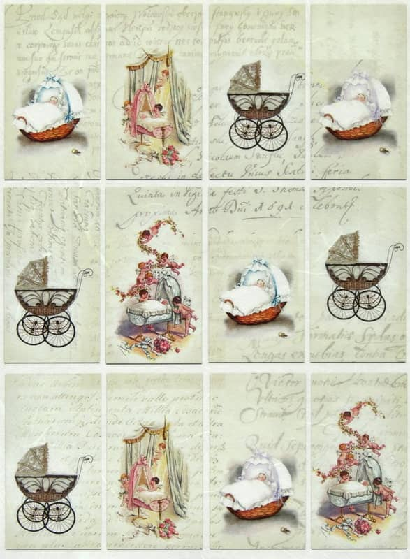 Rice Paper - New Baby Decoupage