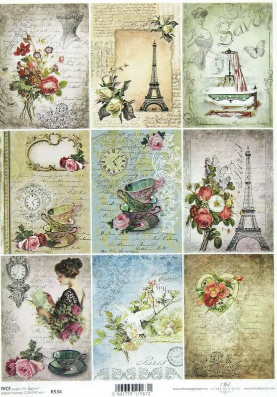 Rice Paper - Vintage Parisian Life