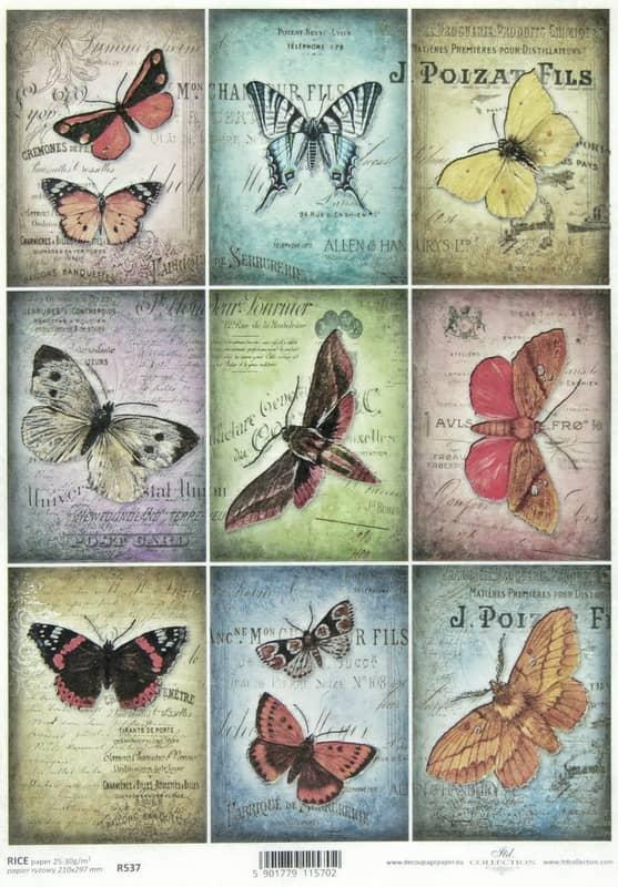 Rice Paper - Vintage Butterflies