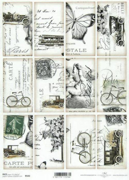 Rice Paper - Vintage Carte Postale