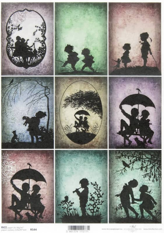 Rice Paper - Silhouette Children