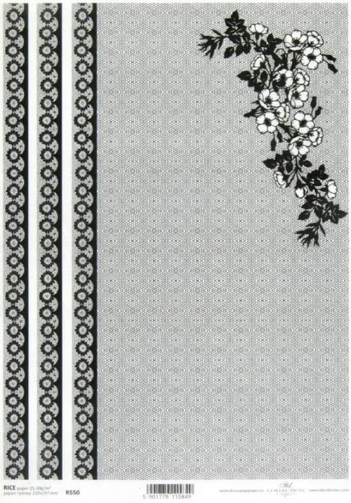Rice Paper - Lace Black 2