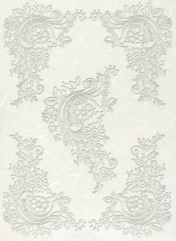 Rice Paper - Lace Floral Corners
