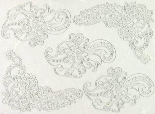 Rice Paper - Lace Ornament Corners