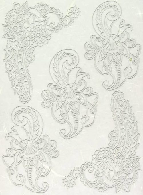 Rice Paper - Lace Ornament Corners