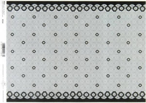 Rice Paper - Lace Black