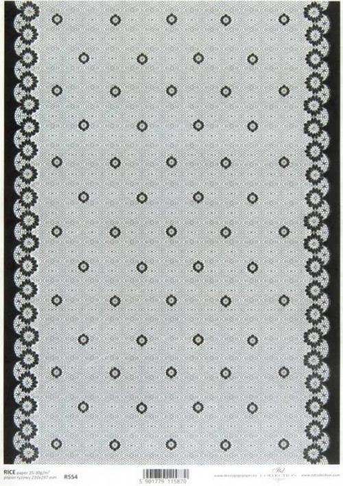 Rice Paper - Lace Black