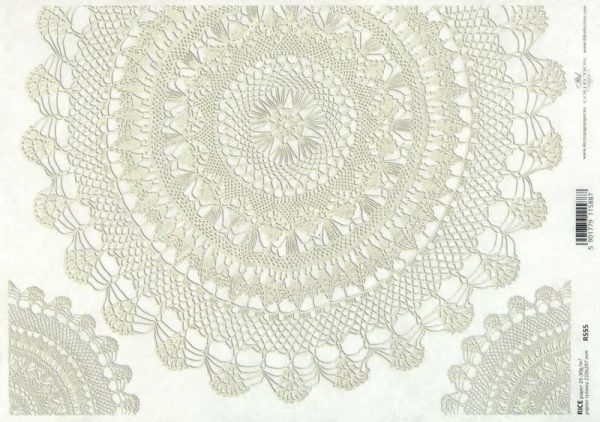 Rice Paper - Round Lace