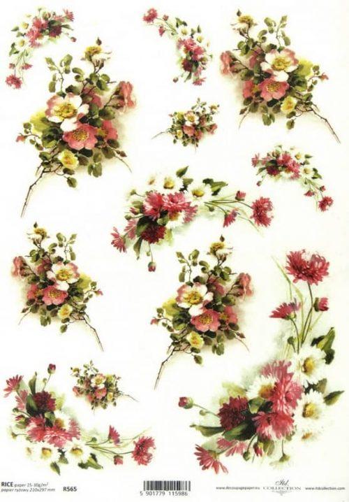 Rice Paper - Flower Bouquet