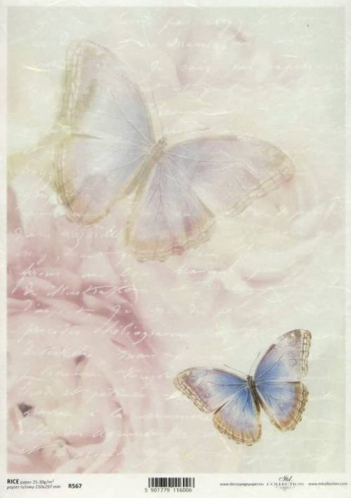Rice Paper - Writing Paper Butterfly