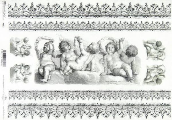 Rice Paper - Baroque Angels Decoupage