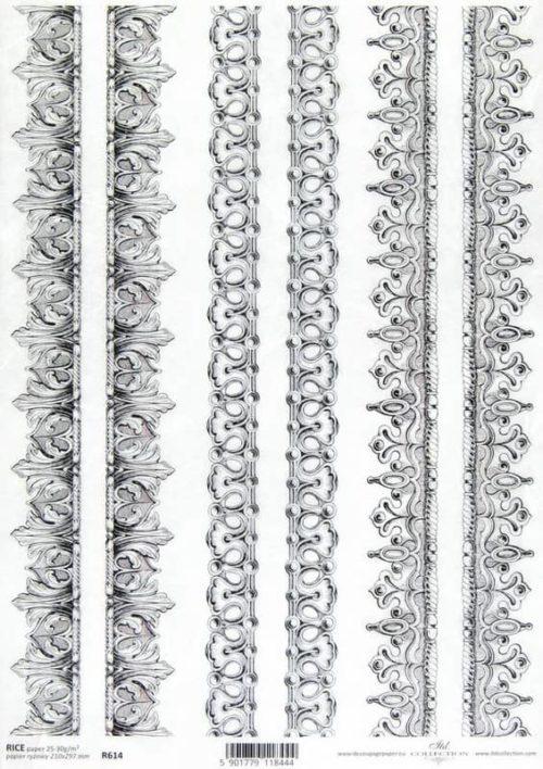 Rice Paper - Baroque Ornament Borders