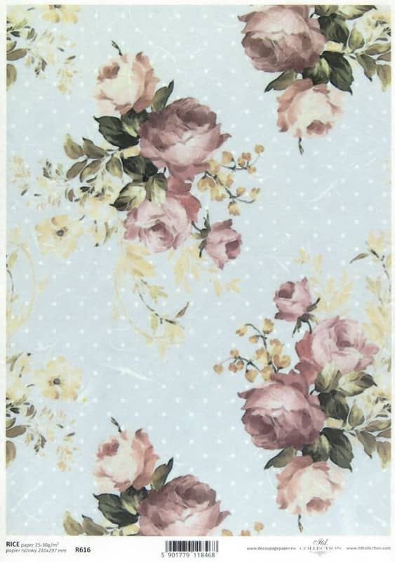 Rice Paper - Shabby Chic Roses L