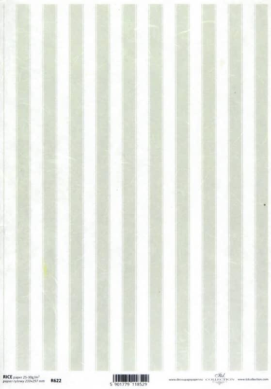 Rice Paper - Striped Pattern Green