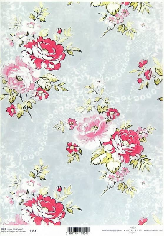 Rice Paper - Classic Country Roses L-