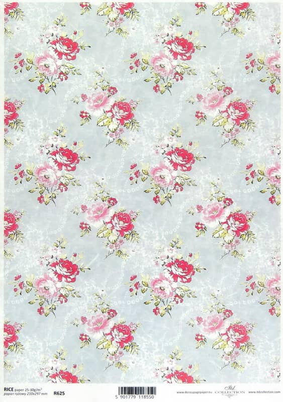 Rice Paper - Country Roses M-