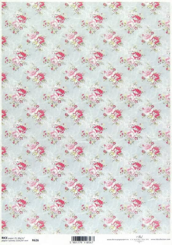 Rice Paper - Country Roses S- Classic