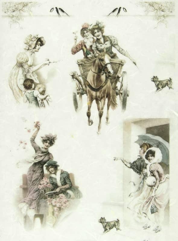 Rice Paper - Women on Horseback-