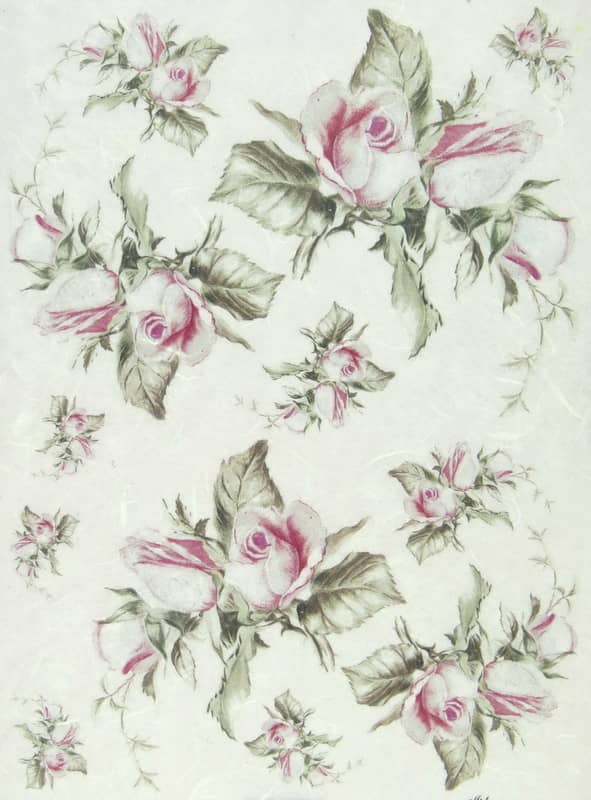 Rice Paper - White Rose Heads
