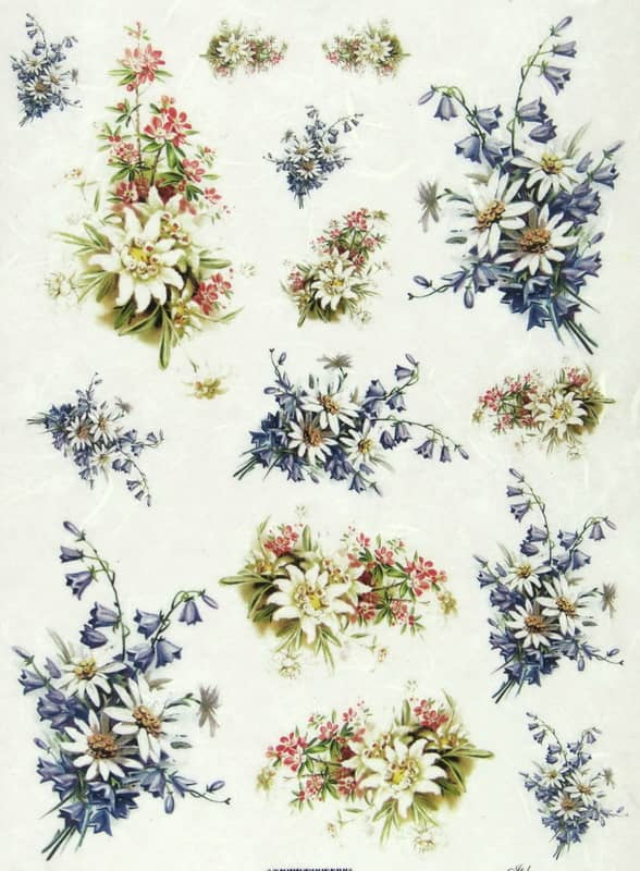 Rice Paper - Spring Flowers