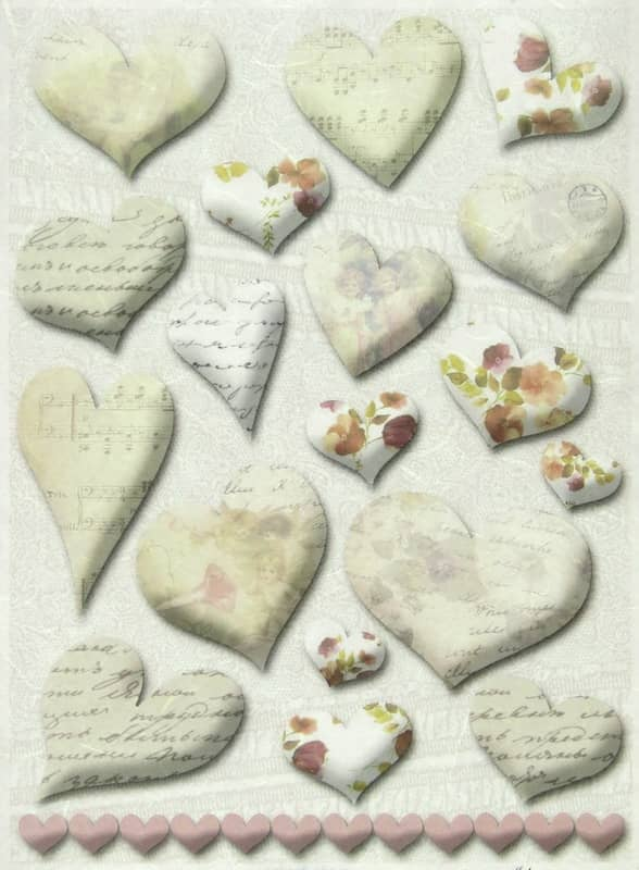 Rice Paper - Heart Decorations