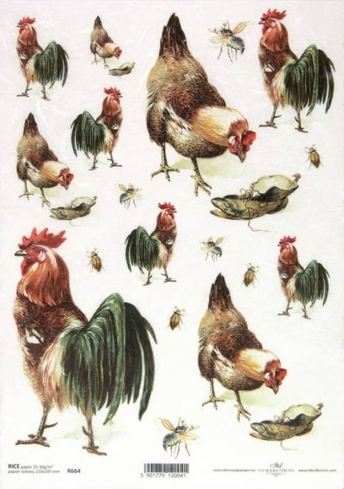 Rice Paper - Roosters