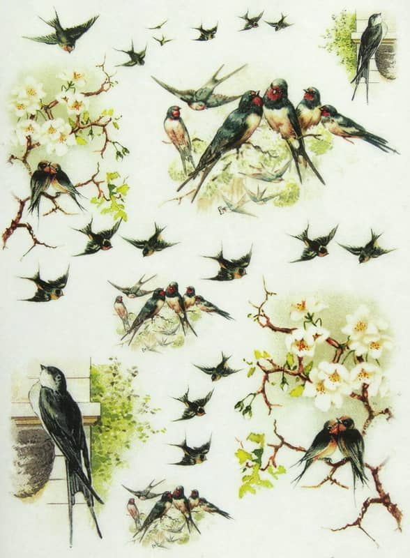 Rice Paper - Swallows 2