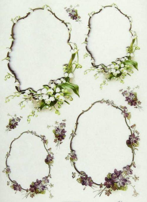 Rice Paper - Flower Frame
